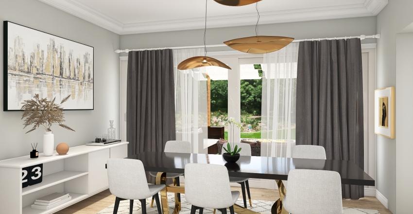 Modern Bohemian Home Interior Design Render