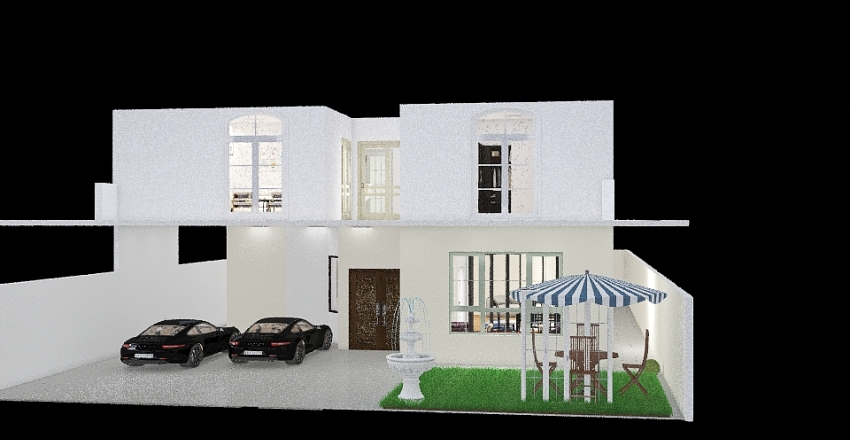 Double story New 18 M Interior Design Render