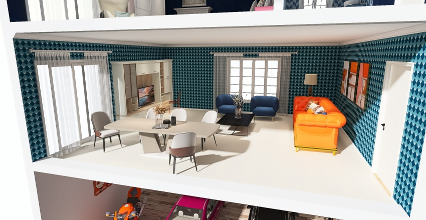 Dollhouse Interior Design Render