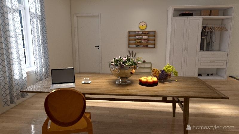 Chambre De Bonne Interior Design Render