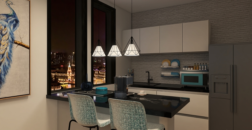 blu Interior Design Render