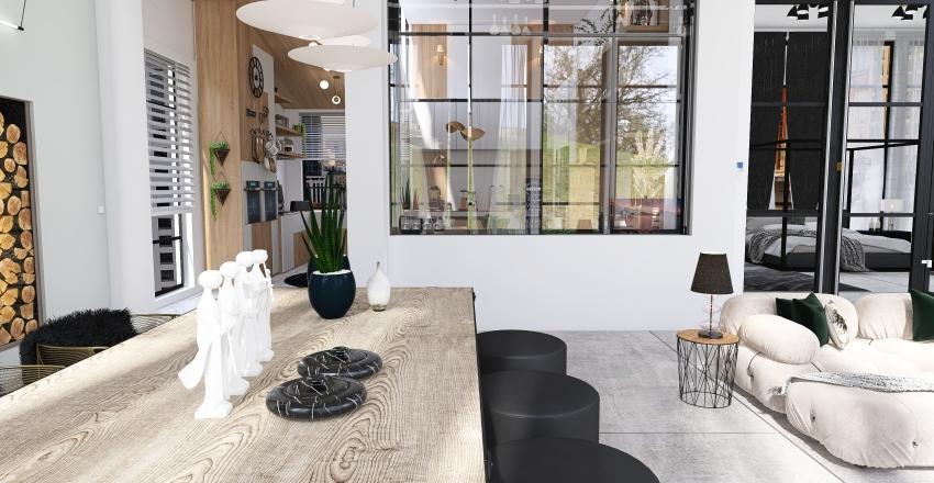 Windows and Skyscrapers Interior Design Render