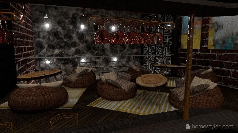 Copy of бар Interior Design Render