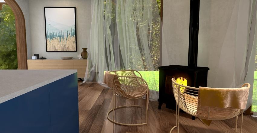 033   hut in the forest Interior Design Render