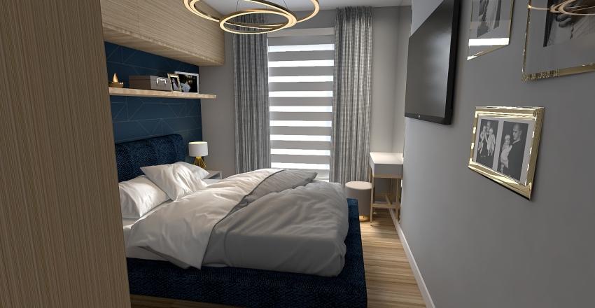 Small bedroom glamour/modern Interior Design Render
