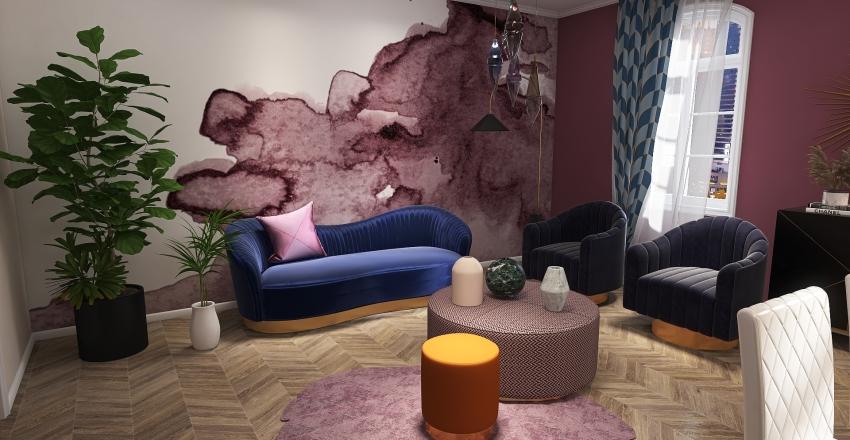 Living in Art Deco Interior Design Render