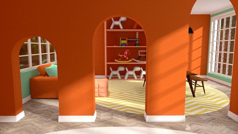 the poppy nursery Interior Design Render