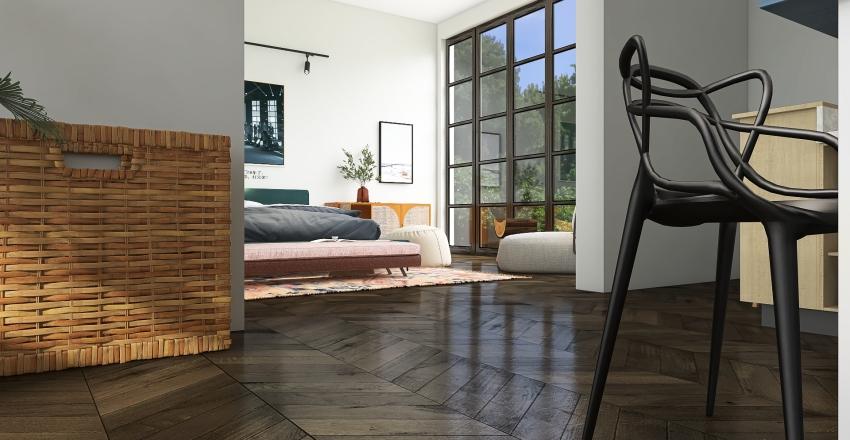 cute lil apartment Interior Design Render