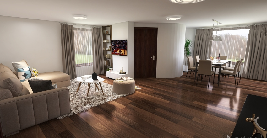 Apartment in Samokov,  Bulgaria  Interior Design Render
