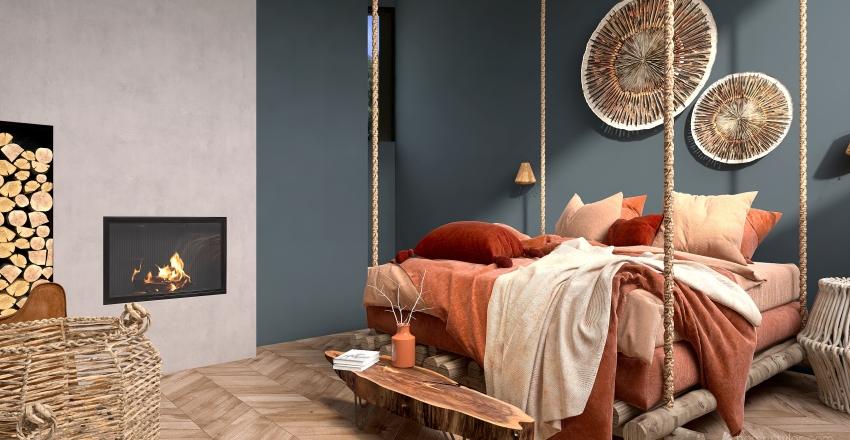 Starter Bohemian home Interior Design Render