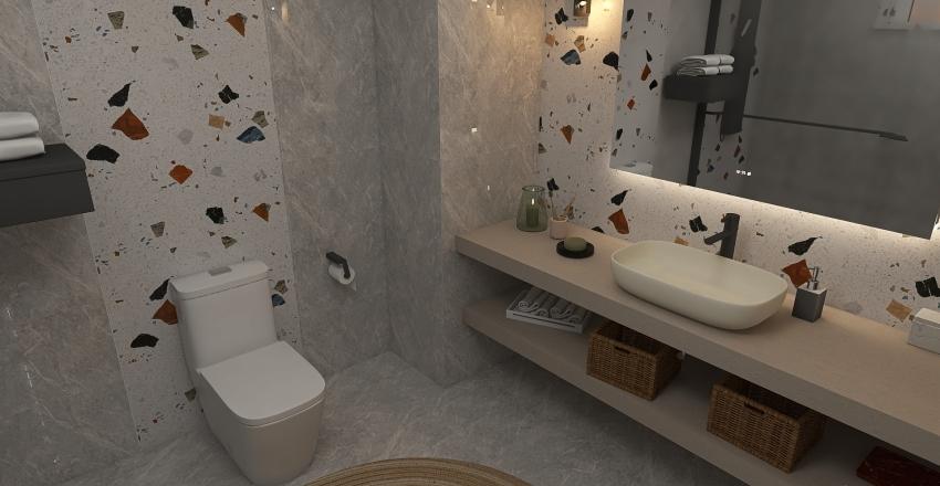 bath terrazzo Interior Design Render