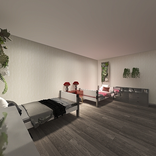 luxury Camp Interior Design Render
