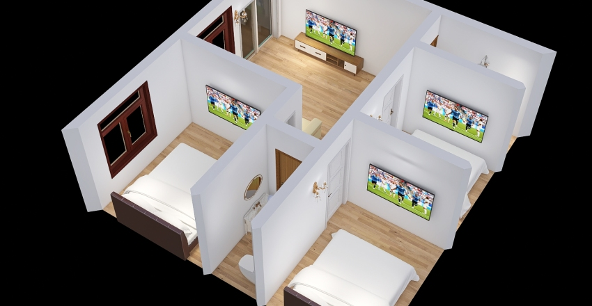 Copy of small house 2 Interior Design Render