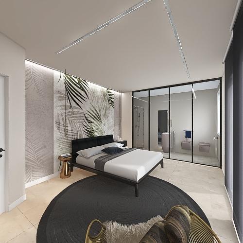 camera da letto Interior Design Render