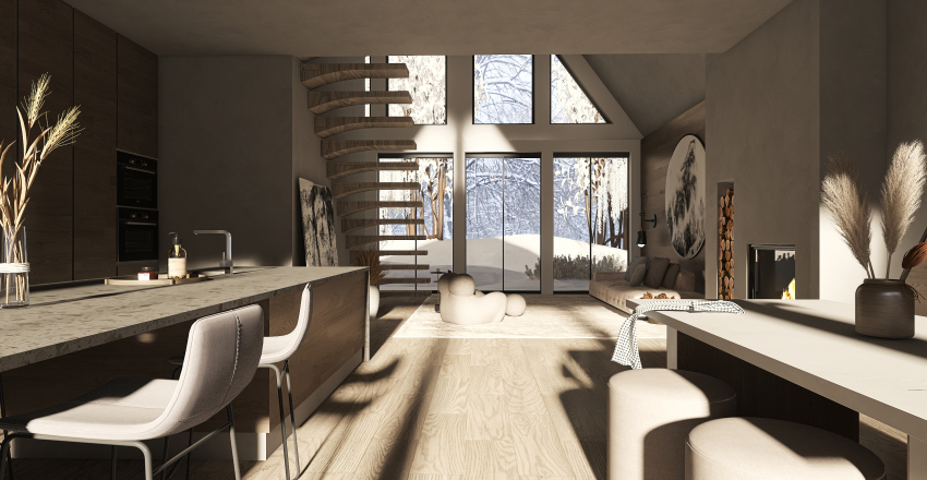 Shining In The Forest Interior Design Render