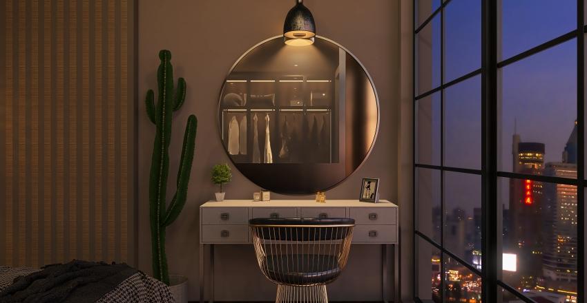 Dormitorio Industrial Interior Design Render