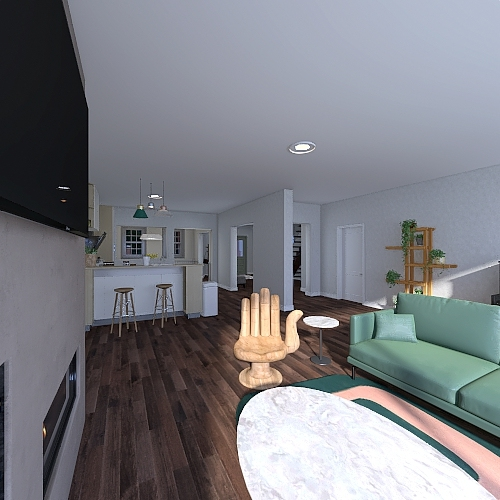 TownHouse Interior Design Render
