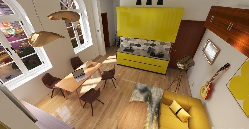 Budapest, Rákóczi út 69 Interior Design Render