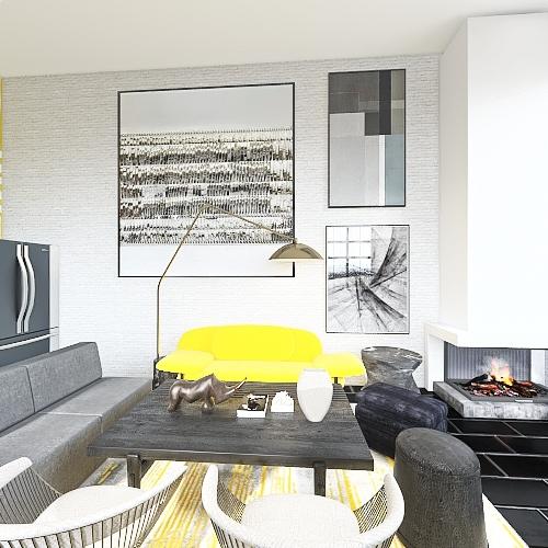 Pantone 2021 Interior Design Render