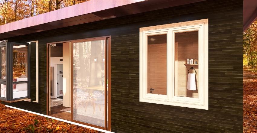 Compact Minimalist Tiny House Interior Design Render