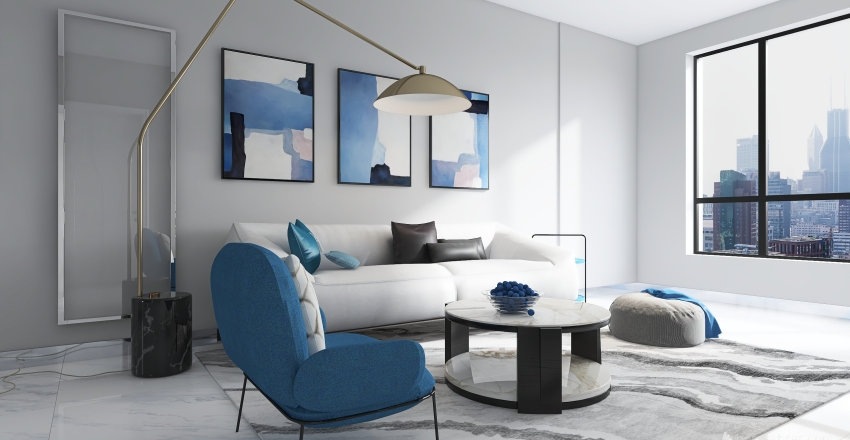 BLUE HOME Interior Design Render