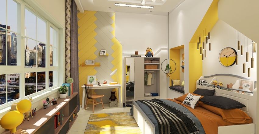 """""""HOPE'' kids room Interior Design Render"""