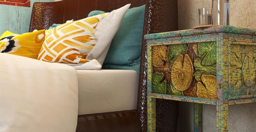 City loft Interior Design Render