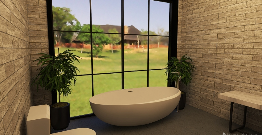 Casa doble Interior Design Render