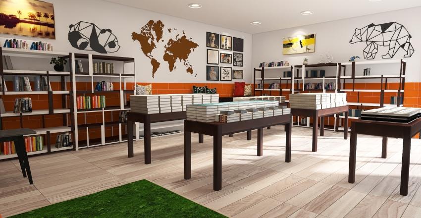 LarissaKellen_LivrariaBLABLABLA Interior Design Render