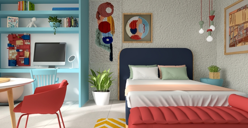 Quitinete Interior Design Render