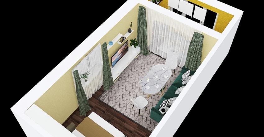 Copy of Спальня-гостиная и балкон Interior Design Render