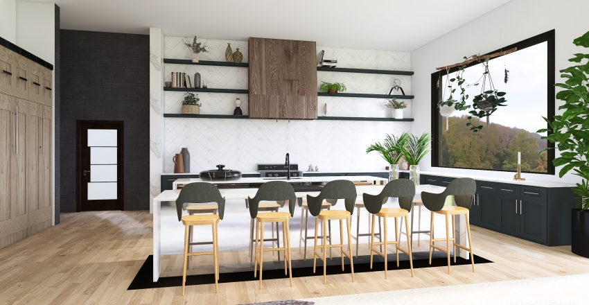 One Story Interior Design Render