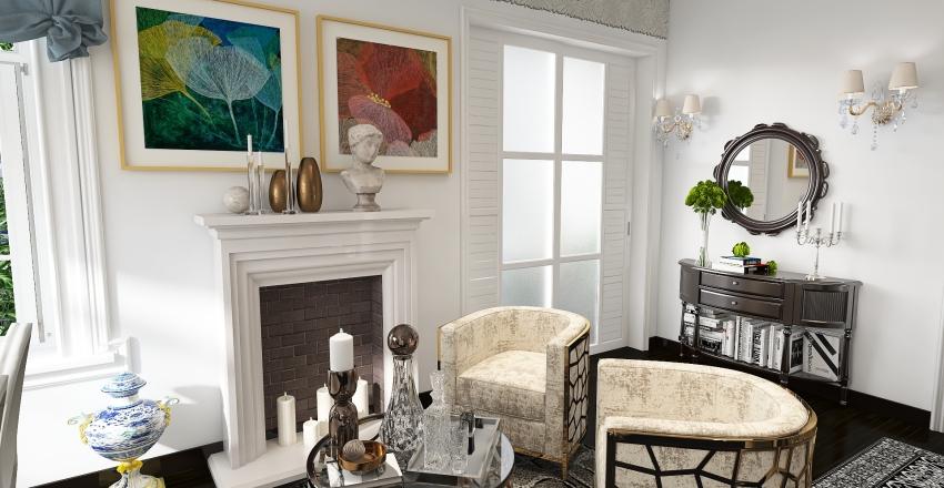 Residential - Small Appartment in Paris Interior Design Render