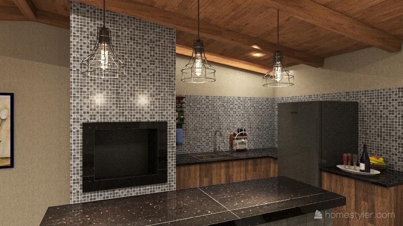 Churrasqueira / Edícula ideia 02 Interior Design Render