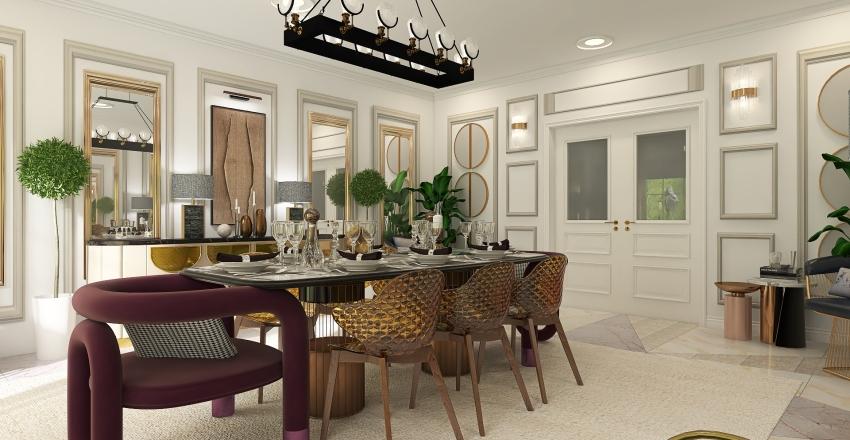 Cozy lux dining room Interior Design Render
