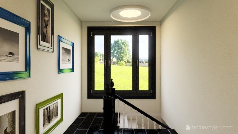 3 bedrooms home Interior Design Render