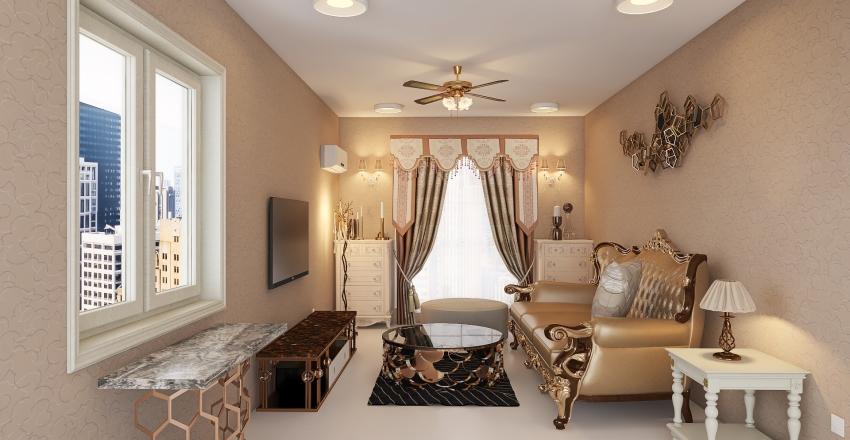Project- 008 The Vintage Villa Interior Design Render