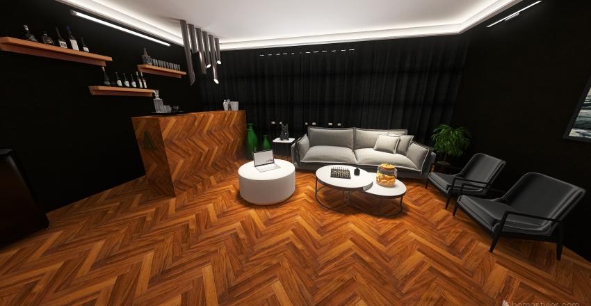 מספרה Interior Design Render