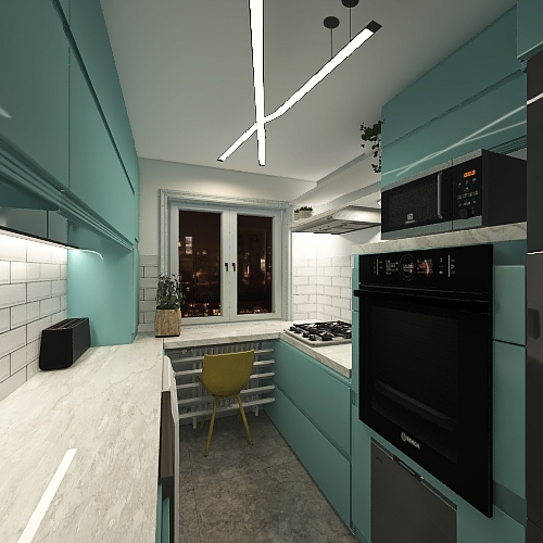 Bucatarie Fam. Apostol Sr. Interior Design Render