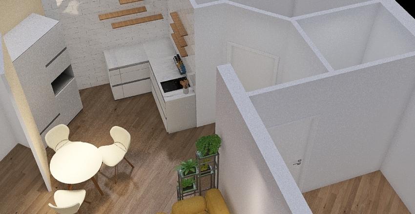 2-х комнатная квар Interior Design Render