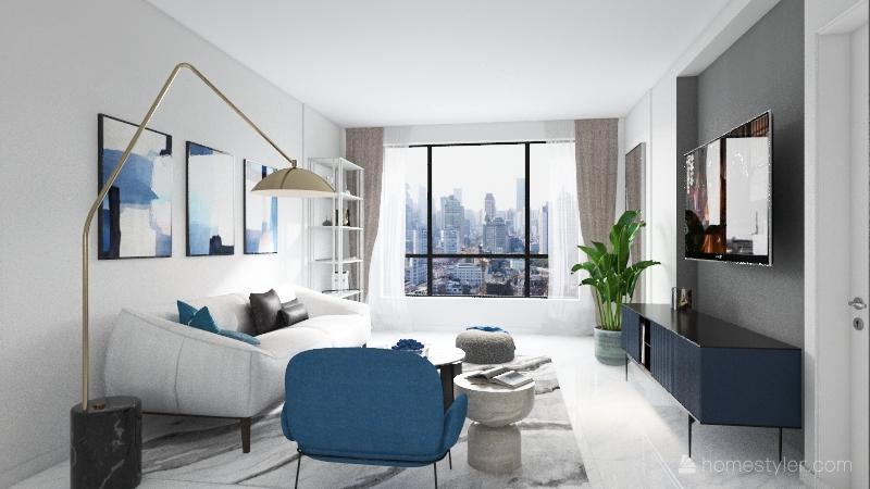 Blue home V1 Interior Design Render