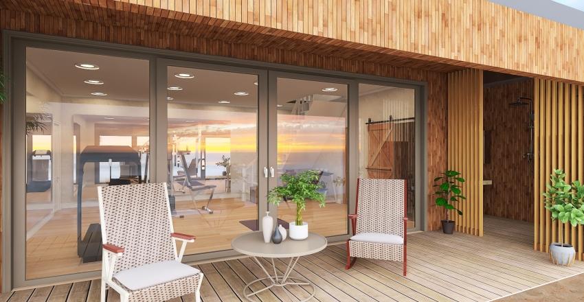 Beach Front Small Coastal HomeFron Small Coastal Home Interior Design Render