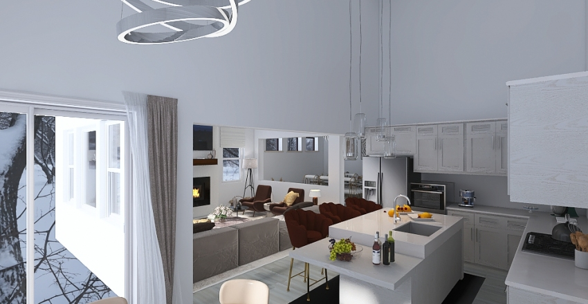 Macdonald first floor Interior Design Render