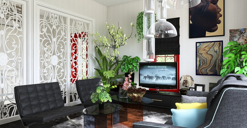 Victorian city house Interior Design Render