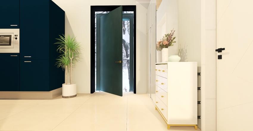 Winter Mini House Interior Design Render