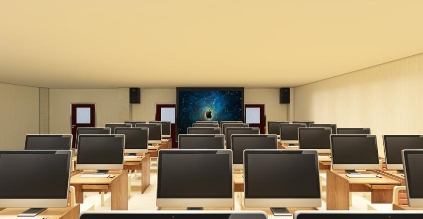 Computer Room (542) Interior Design Render
