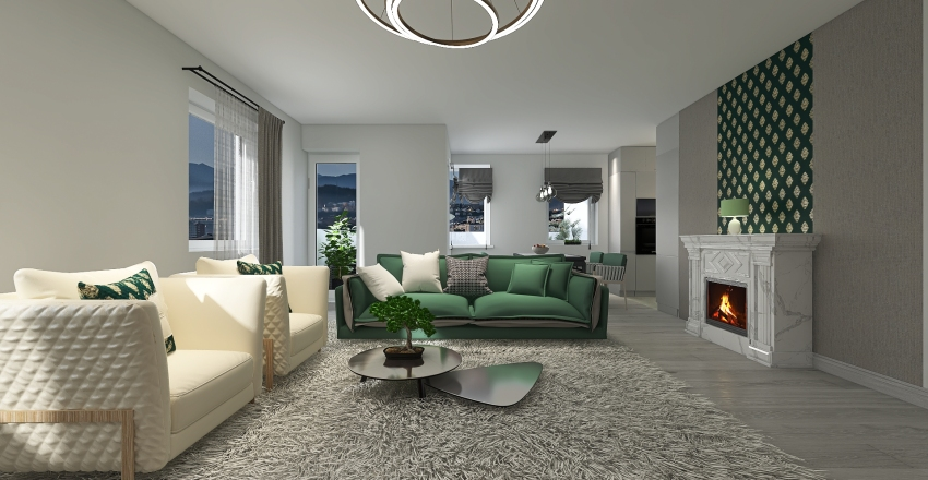 (eredet!!!)KR 5 szoba SKANDINÁV Interior Design Render