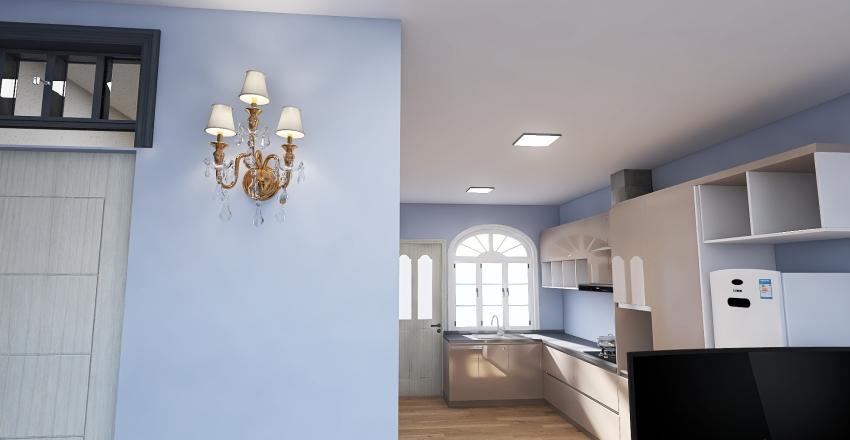 Casinha Pequena Interior Design Render