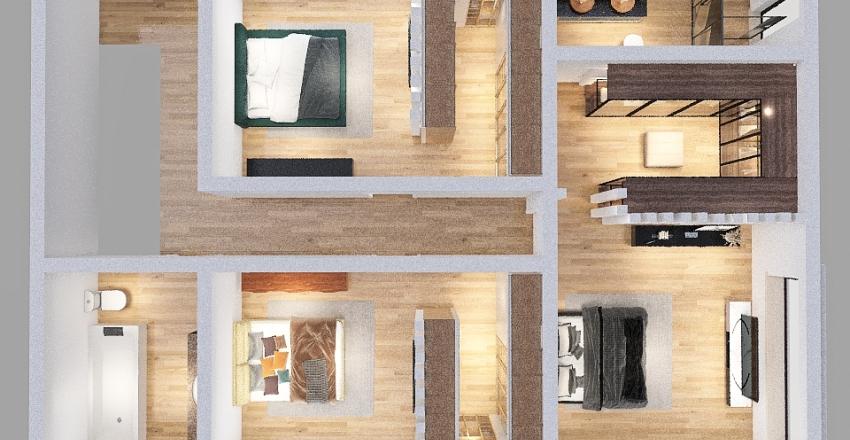 ultima casa/ quarto para trás Interior Design Render