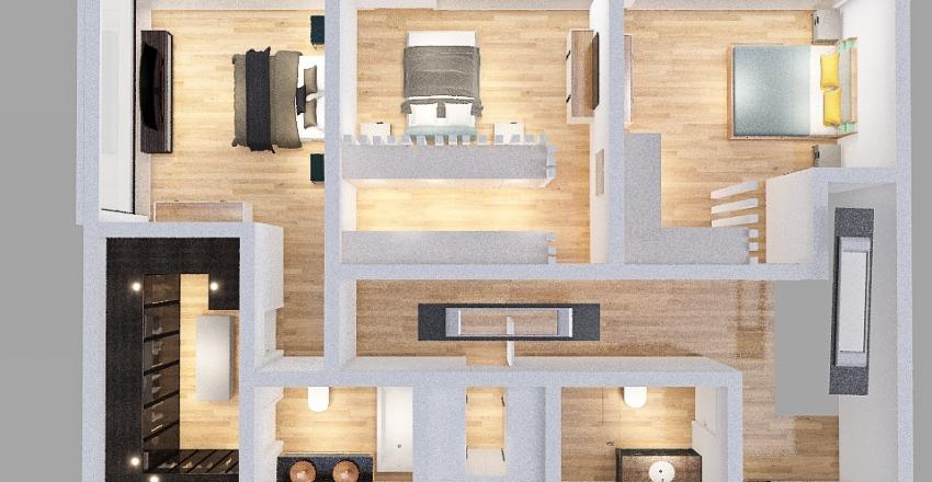 penúltima casa /quarto com armário  Interior Design Render